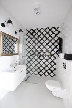 Czarno-biała łazienka - Architektura, wnętrza, technologia, design - HomeSquare