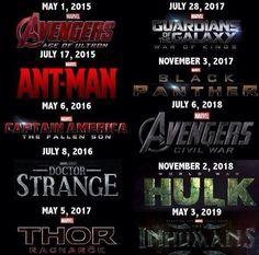 marvel film release schedule