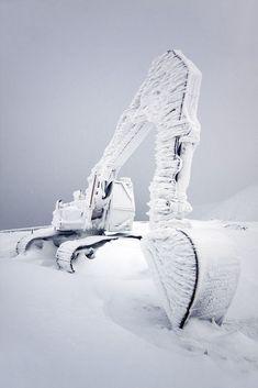 Frozen Excavator