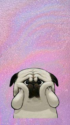 hєч hєч αmσrα є αmσrєѕ \(^o^)/! Dog Wallpaper, Tier Wallpaper, Animal Wallpaper, Tumblr Wallpaper, Cellphone Wallpaper, Iphone Wallpaper, Pugs Tumblr, Pug Art, Pug Love