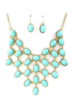 Turquoise Ladika Necklace on Emma Stine Limited by mry3