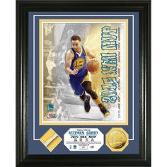 Stephen Curry 2015 NBA MVP Game Used Net Coin Photo Mint