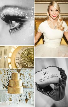 Bling in The New Year - Glitter & Gold New Year's Eve Inspiration Board