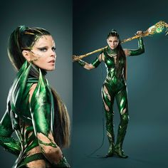 2 NEW!!! Still pics from Power Rangers Movie featuring Elizabeth Banks as Rita Repulsa. Power Rangers hits the big screen on March 24th 2017.