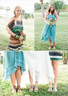 Bridesmaid dresses hippie style