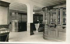 Old bank interior