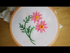 Hand Embroidery: Bullion knot variation - YouTube