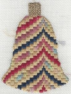 Offset Bargello Needlepoint Bell free pattern fromNapa Needlepoint