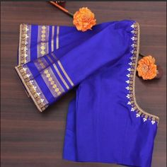 Best 12 The delicate work of this saree brings a charm to the simplistic design and vibrant colour detail. Get your customized blouse today. New Saree Blouse Designs, Simple Blouse Designs, Stylish Blouse Design, Bridal Blouse Designs, Traditional Blouse Designs, Hand Work Blouse Design, Aari Work Blouse, Designer Blouse Patterns, Instagram