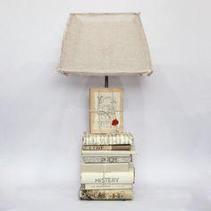 Lámpara De Libros Antiguos Grande Grande