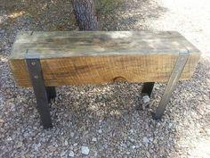 banc en faisceau et fer dangle bois récupéré par AK47Dezines