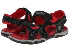 Timberland Kids Adventure Seeker 2-Strap Sandal (Little Kid) (Black/Red) Boys Shoes