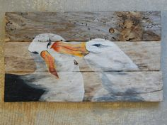 Albatross Hand Painted Repurposed Driftwood