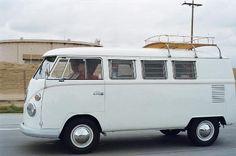 White VW Camper Van