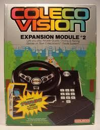 COLECO VISION EXPANSION MODULE, IT CAME WITH TURBO GAME