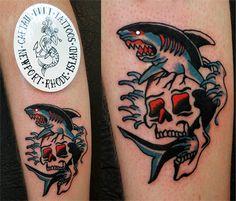 #TattooShark #SailorJerrySharkTattoo #TattoosByCaptainBret  #NewportRhodeIsland  #RI #TattooShop #TattooStudio #NauticalTattoos #TraditionalTatoos #SailorJerryTattoos #SailorJerry #WatercolorTattoos #OceanTattoos #ShipTattoos #FishTattoos #AnchorTattoos #SaltyDogTattoos