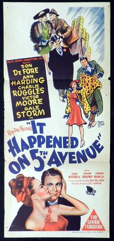 It Happened on Avenue,( a colorful cast of characters hole up in a boarded up mansion. Great Christmas Movies, Great Movies, Cinema Posters, Film Posters, Old Movies, Vintage Movies, Beloved Book, Movie Marathon, Classic Movies