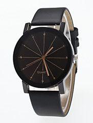 Mujer+Reloj+de+Moda+Simulado+Diamante+Reloj+Cuarzo+La+imitación+de+diamante+PU+Banda+Negro+Negro+–+EUR+€+3.83