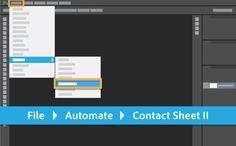 Create a contact sheet | Adobe Photoshop CC tutorials