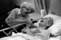 After all their years..still in love and  still laughing.