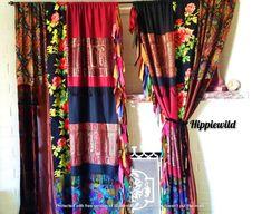 Rose Curtains, Bohemian Curtains, Elegant Curtains, Shabby Chic Curtains, Drop Cloth Curtains, Green Curtains, Floral Curtains, Rustic Curtains, Velvet Curtains