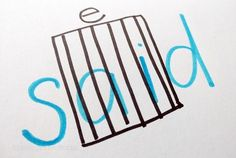 Teach sight words in kindergarten with songs or stories - put ai in jail for making e sound