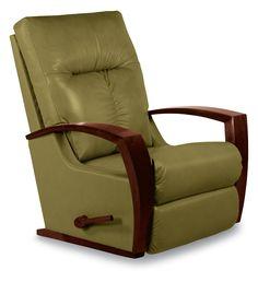Si vous aimez l'idée d'un fauteuil inclinable, mais que vous souhaitez en trouver un plus raffiné et plus moderne que ceux que vous avez connus dans votre enfance, le modèle Maxx est fait pour vous. Ce modèle Reclina-Rocker propose à la fois des lignes nettes et contemporaines, non seulement par leur élégance, mais également grâce à ses accoudoirs en bois luxueux. Que pouvons-nous dire? Le modèle Maxx permet de se balancer. Vraiment.