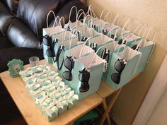 Breakfast at Tiffany's themed bridal shower party favors