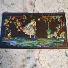 5 Woman w//Large Hat /& Flowers 1908 Victorian Color Litho 10x13 Print