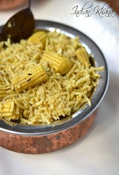 Baby Corn Biryani - Easy, flavorful one pot meal