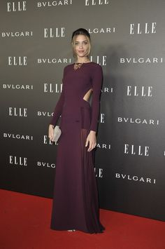 Ana Beatriz Barros in Elie Saab at the Elle Style Awards 2014 Night Outfits, Dress Outfits, Fashion Dresses, Elie Saab, Elle Style Awards, Red Carpet Gowns, Dress Neck Designs, Maxi Dress With Slit, Dressed To Kill