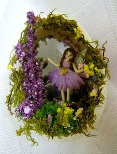 Fairy's Garden Turkey Egg Ornament by eggcellentdesigns on Etsy, $24.50