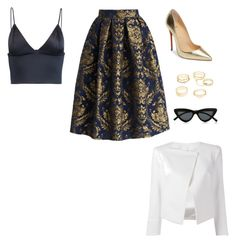 """""""Untitled #399"""" by wrigannabelle on Polyvore featuring T By Alexander Wang, Chicwish, Christian Louboutin, Charlotte Russe, Plein Sud Jeanius and Le Specs"""