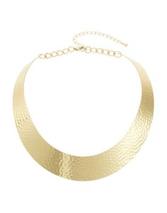 Hammered Collar Necklace   Lord and Taylor