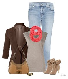 """""""Fall Inspired"""" by ksims-1 ❤ liked on Polyvore featuring 7 For All Mankind, LE3NO, T By Alexander Wang, 424 Fifth and Gucci"""
