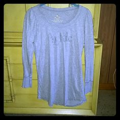 Aerie long sleeved  nightgown Gently used long sleeved gray Aerie 100% cotton night shirt. A little fading on the sparkles but other than that its in great condition! Size Small Make an offer!!! aerie Intimates & Sleepwear Pajamas