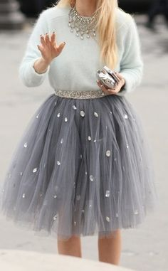 Beautiful tulle skirt inspired fashion