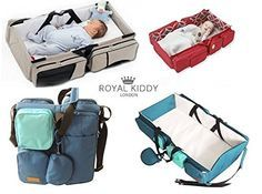ROYAL KIDDY LONDON © 3 IN 1 FALTBARES BABY REISE TASCHE ALS BABY- WICKEL, KORBWIEGE, & WINDELN TASCHE