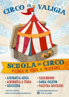 "Poster Design ""Circo in valigia"" by Studio Grafico Scandola, via Behance"