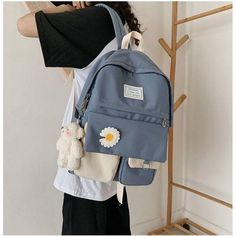 Cute School Bags, School Bags For Girls, Girls Bags, Cute Backpacks For School, Trendy Backpacks, Girl Backpacks, Mode Kawaii, Kawaii Style, Aesthetic Backpack