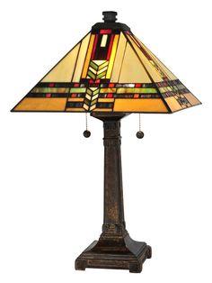 Dale Tiffany TT13061 Palo Mission 2 Light Table Lamp