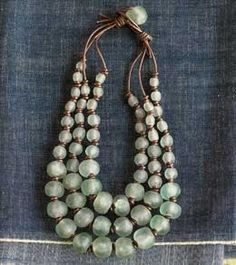 ghanaian glass bead necklace - Google Search