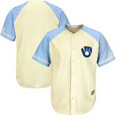 d7caa6e6b86 Milwaukee Brewers Majestic Cool Base Ivory Fashion Team Jersey -  Cream Light Blue