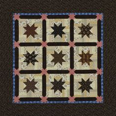 Rail Fence and Stars Quilt