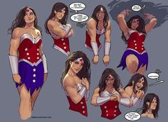 Wonder Woman sketches, by Stjepan Sejic - This is my favorite Wonder Woman