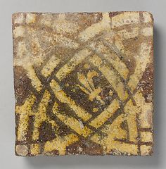 Two-Colored Tile, English, mid 14th century