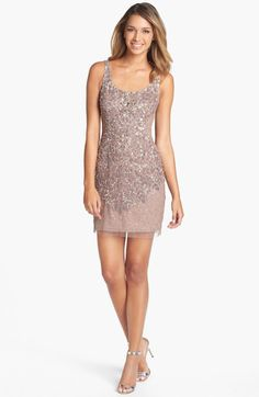 Love this: Embellished Mesh Tank Dress @Lyst