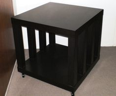 Ikea Hack: Rolling Storage Lack Coffee/Side Table: 6 Steps (with Pictures) Lack Table Hack, Ikea Lack Hack, Ikea Lack Side Table, Coffee Table Hacks, Ikea Table, Ikea Storage, Storage Hacks, Bedroom Storage, Storage Ideas