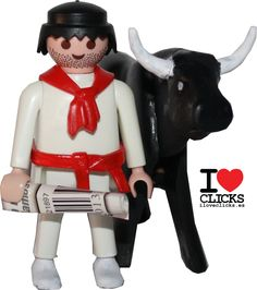 Check out this fun Playmobil figurine of a San Fermin Festival attendee! Didn't see that one coming did you?