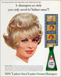Janet Leigh for Lustre-Creme Shampoo, 1963 by MewDeep, via Flickr